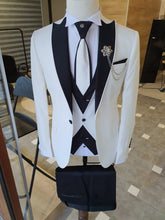Load image into Gallery viewer, Ralph Slim Fit Dovetail Collared Ecru Tuxedo
