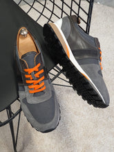 Load image into Gallery viewer, Ralph Sardinelli Eva Sole Suede Leather Smoke Grey Sneakers