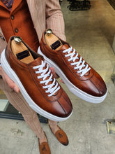 Load image into Gallery viewer, Evo Sardinelli Eva Sole Lace up Tan Sneakers