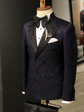 Load image into Gallery viewer, Shleton Navy Blue  Slim Fit Tuxedo