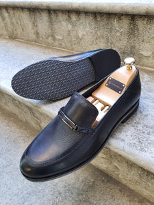 Shleton Sardinelli Buckle Detailed Black Leather Shoes