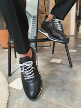 Load image into Gallery viewer, Logan Sardinelli Lace Up Black Sneakers