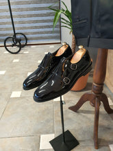Load image into Gallery viewer, Ralph Sardinelli Neolite Double Buckle Leather Shoes