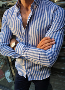 Verno Slim Fit Striped Shirts (In 3 Colors)