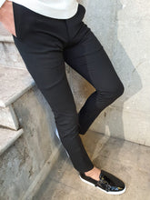 Load image into Gallery viewer, Lance Super Slim Fit Black Fabric Pants