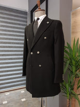 Load image into Gallery viewer, Logan Slim Fit Special Edition Double Breasted Woolen Black Coat