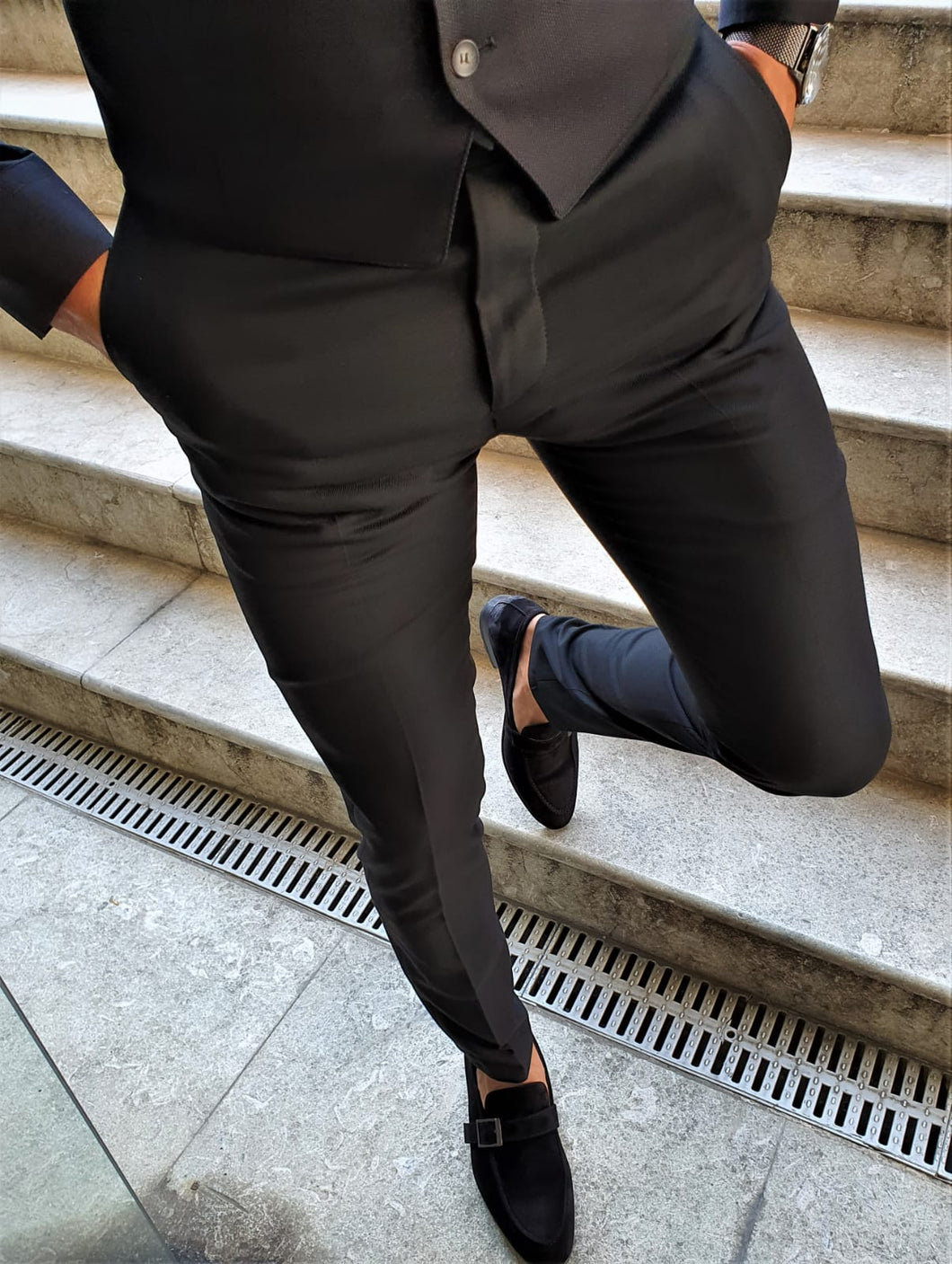 Verno Slim Fit Special Production Black Pants