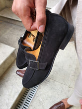 Load image into Gallery viewer, Royal Sardinelli Buckle Detailed Suede Leather Shoes
