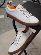 Load image into Gallery viewer, Ralph Sardinelli Eva Sole Lace Up White Leather Sneakers