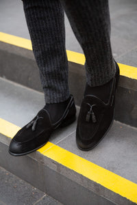 Special Edition Sardinelli Suede Black Loafers