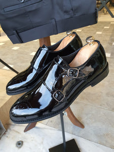 Ralph Sardinelli Neolite Double Buckle Leather Shoes