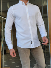 Load image into Gallery viewer, Moore Slim Fit Button Down White Shirt