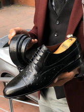 Load image into Gallery viewer, Special Edition Classic Black Leather Sardnelli Shoes