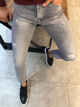 Load image into Gallery viewer, New Look Slim Fit Ripped Gray Jeans