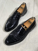 Load image into Gallery viewer, Luxe Sardinelli Black Limited Edition Leather Shoes