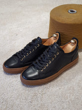 Load image into Gallery viewer, Ralph Sardinelli Eva Sole Black Lace Up Leather Sneakers