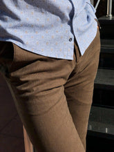 Load image into Gallery viewer, Marc Brown Slim Fit Cotton Pants