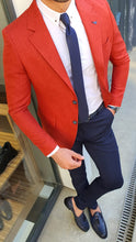 Load image into Gallery viewer, March Slim Fit Tile Cotton Blazer