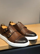 Load image into Gallery viewer, Sardinelli Eva Sole Double Monk Brown Shoes