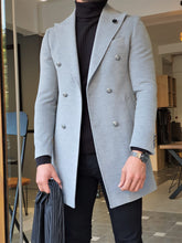 Load image into Gallery viewer, Mason Slim Fit Special Edition Double Breast Gray Woolen Coat ( Available in 4 Colors)