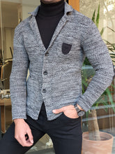 Load image into Gallery viewer, Brooks Slim Fit Buttoned Black Knitwear