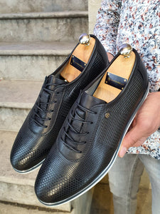 Genova Sardinelli Black Lace-up Shoes