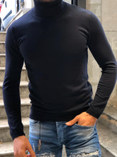Load image into Gallery viewer, New Look Dark Blue Light Weight Turtle Neck