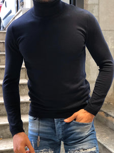 New Look Dark Blue Light Weight Turtle Neck
