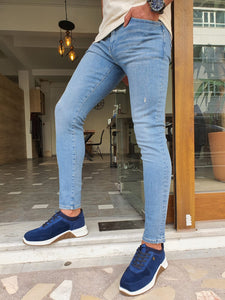 Jason Slim Fit Special Edition Ripped Blue Jeans