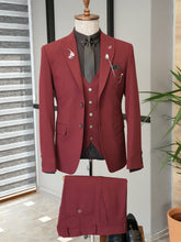 Load image into Gallery viewer, Ralph Slim Fit Bi-Stretch Claret Red Suit