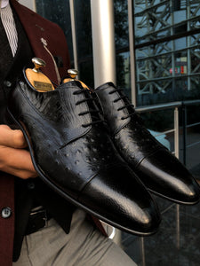 Special Edition Classic Black Leather Sardnelli Shoes