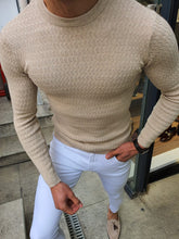 Load image into Gallery viewer, Genova Slim Fit Executive Beige Knitwear