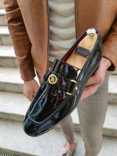 Load image into Gallery viewer, Sardinelli Buckled Shiny Black Leather Shoes