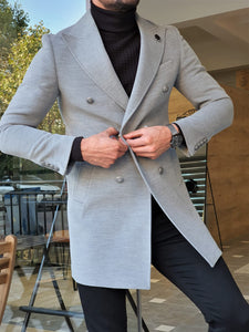 Mason Slim Fit Special Edition Double Breast Gray Woolen Coat ( Available in 4 Colors)