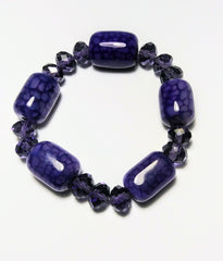 Royal purple jade beans bracelet