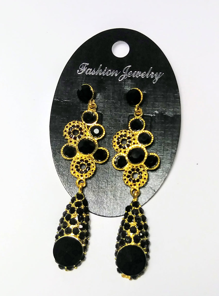 Fashion Jewelry-black drop