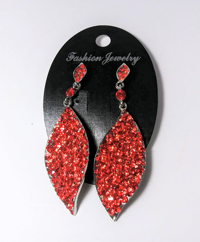 Fashion jewelry red leave ear rings