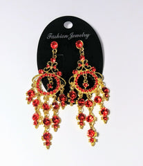 Costume jewelry beautiful long ear rings