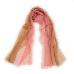 100% silk multiple color gradient scarf