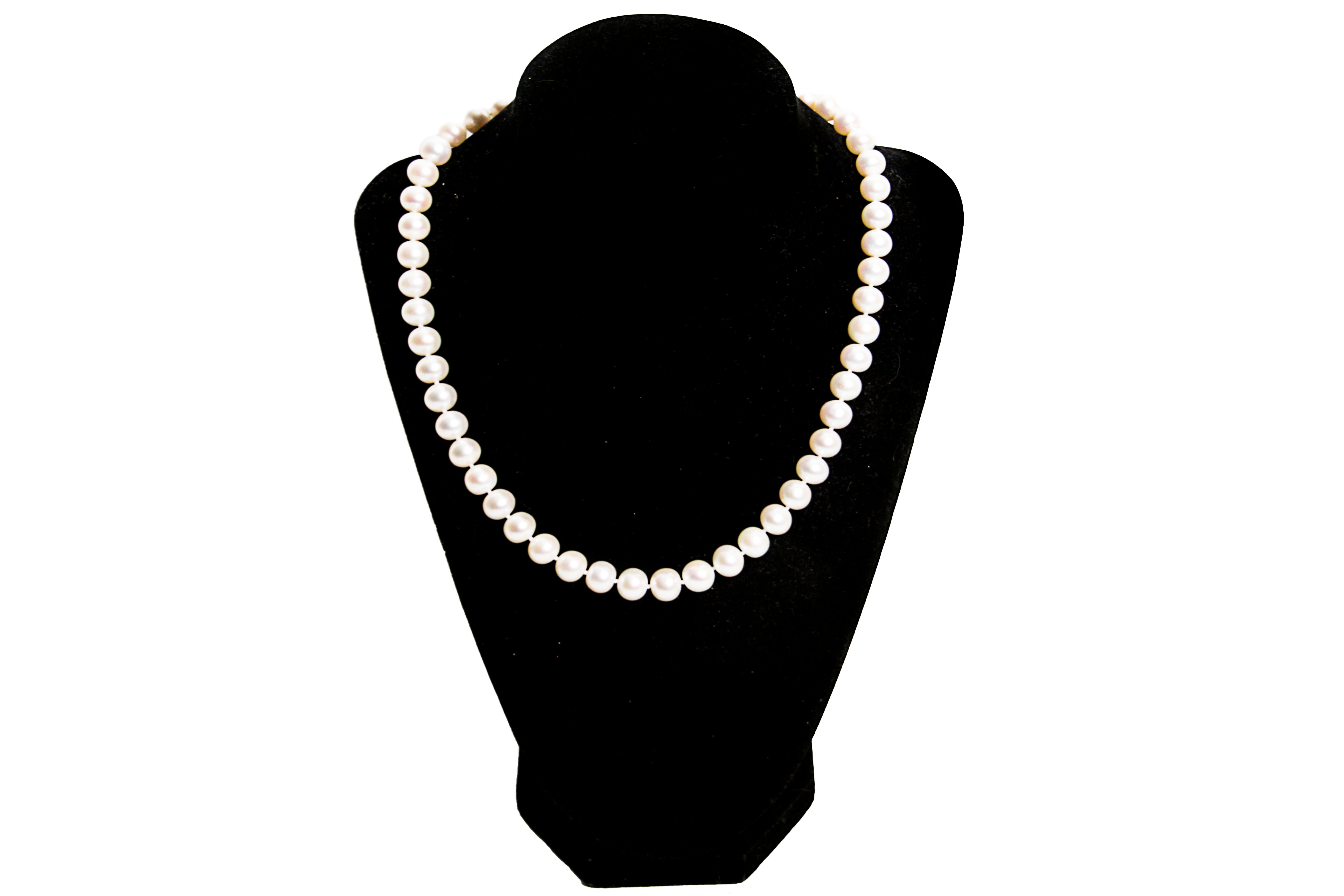 AAA Grade, Super high quality 9-10 mm Beautiful and large sized cultured water pearls necklace- A lifetime piece