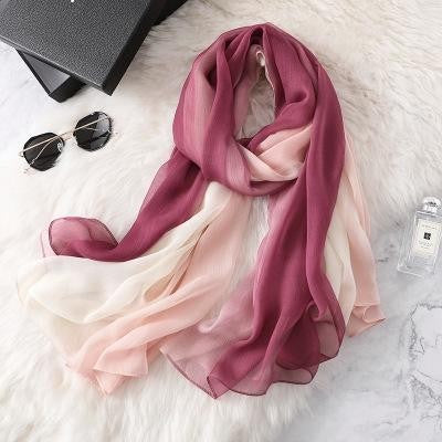 Large and beautiful gradient color scarf