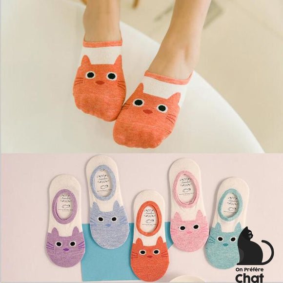Chaussettes Invisibles Chaton - Chaussettes