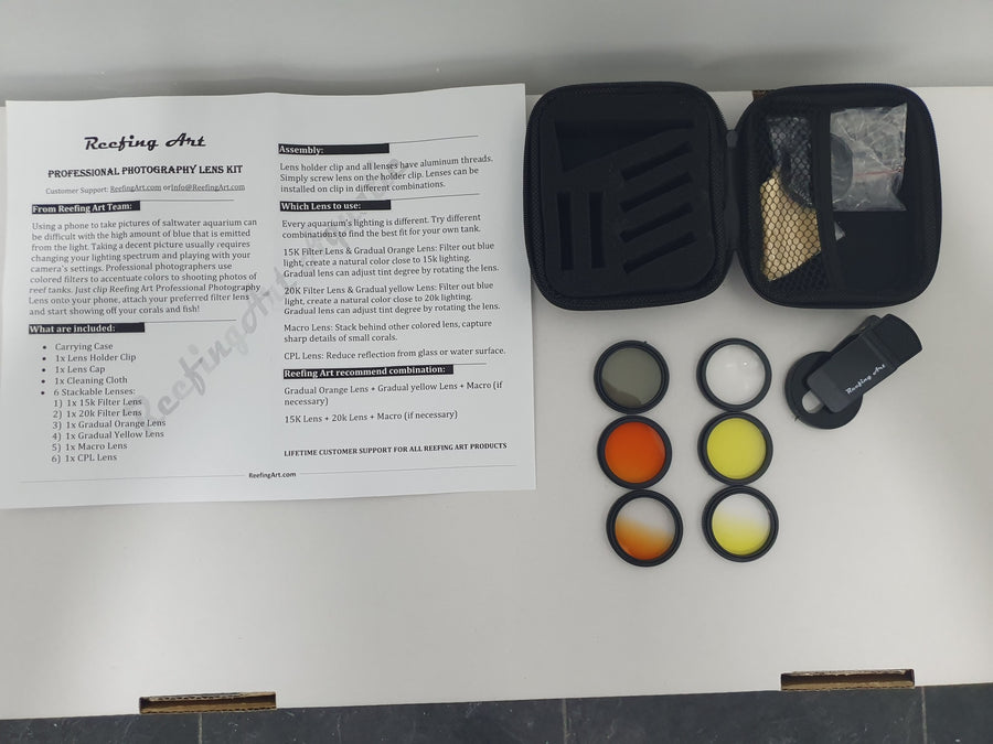 Reefing Art Photography Lenses Kit