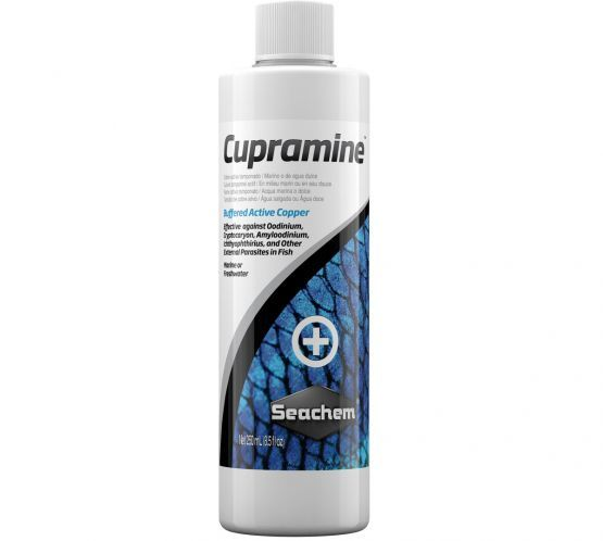 Seachem Cupramine Copper Aquarium medication - 250ml