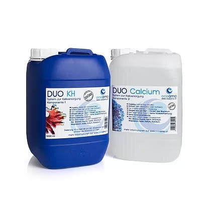 NEW!!!! Oceamo DUO complete package deal! component 2 Calc 5000ml +  KH complete component 1 KH 5000ml package!
