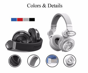 Bluedio T2s Bluetooth Headphones On Ear with Mic