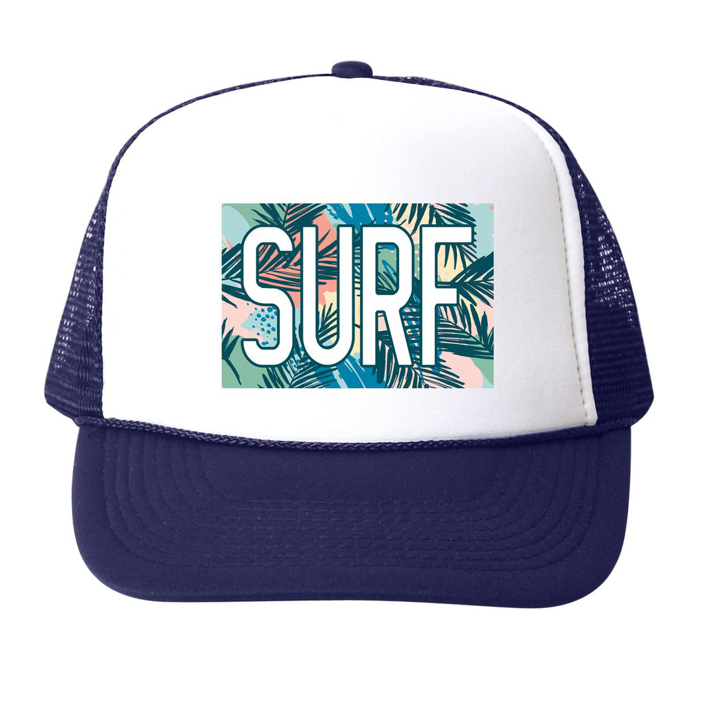 surf floral navy - hat