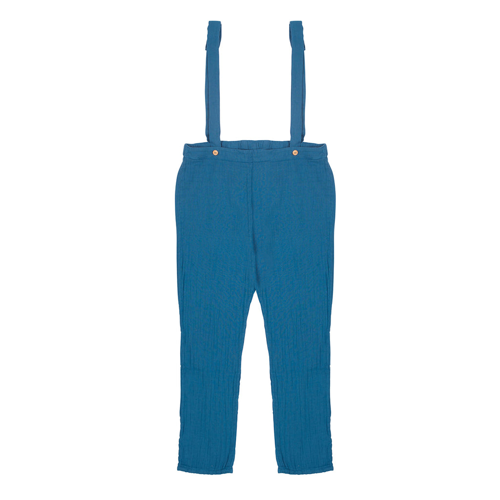 blue suspenders - pants