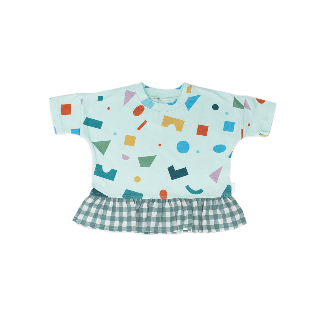 shapes minty boxy frill - t-shirt
