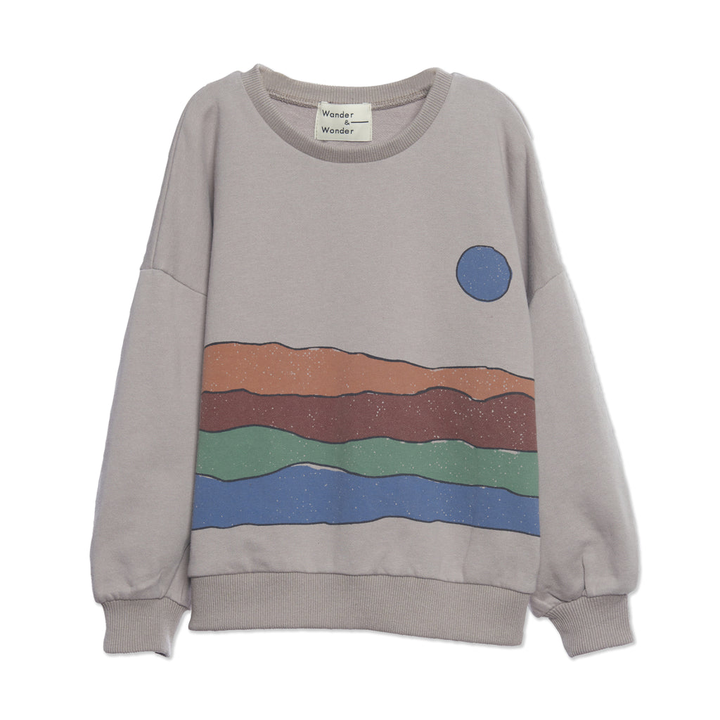 desert print grey - sweater